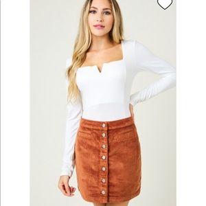 Saints & Hearts Farhana Corduroy Skirt